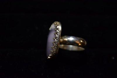 Violet Fluorite Ring, side