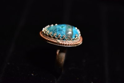 chrysocolla ring side