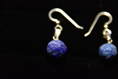 azurite blueberry earrings2