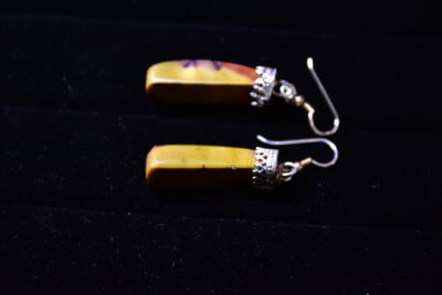 mookaite earrings side