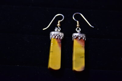 mookaite earrings back
