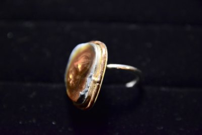 fire agate ring side