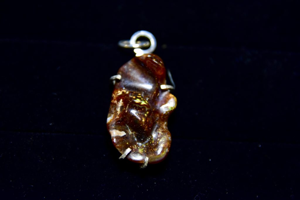 Garnet Fire Agate Pendant