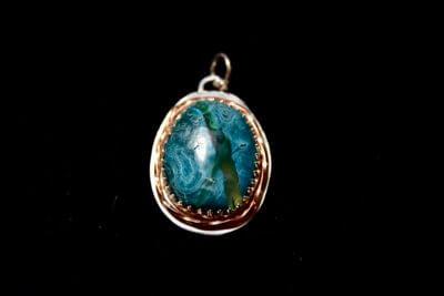 chrysocolla pendant