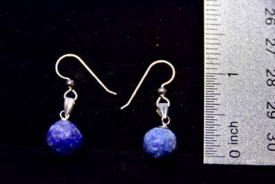 azurite blueberry earrings2 size