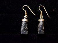 picasso agate earrings