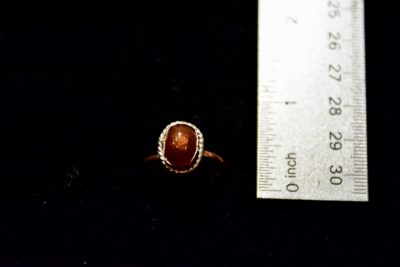 fire agate ring size