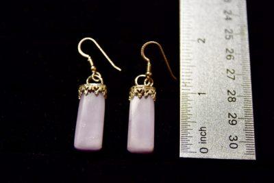 lav fluorite earrings size