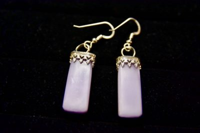 lav fluor earrings back