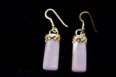 lav fluor earrings