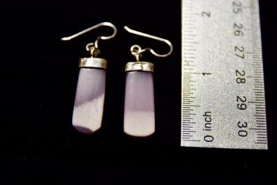 lav fluor earrings size