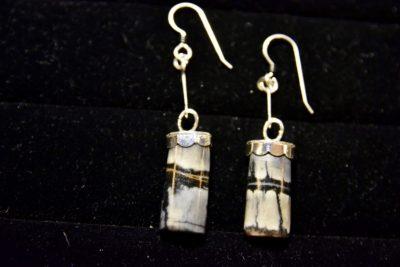 pic agate earrings