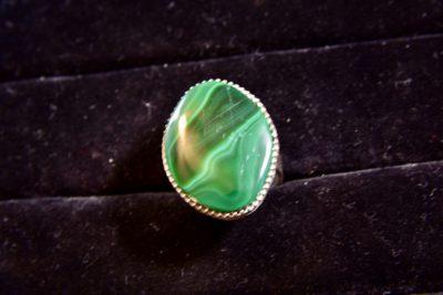 African Malachite Ring