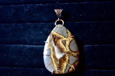 Septarian pendant