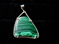 african malachite pendant