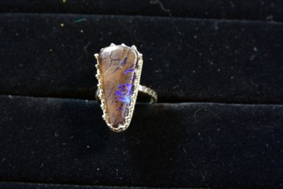 Australian Boulder Opal ring